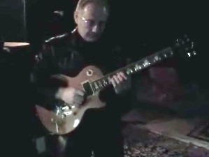A picture of Robert Fripp creating soundscapes for Windows Vista