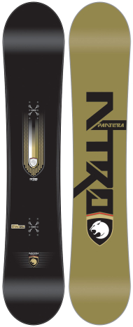 A picture of Nitro's Pantera snowboard which I bought
