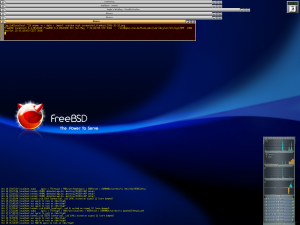 Screenshot of FreeBSD.