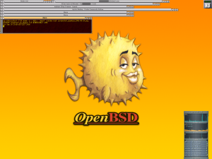 Screenshot of OpenBSD.